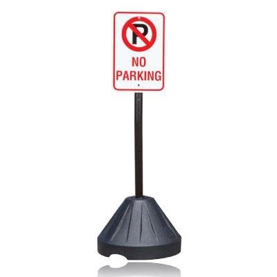 Portable Sign Stanchion - No Parking