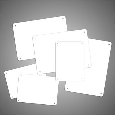 Brady PowerMark Blank Aluminum Signs