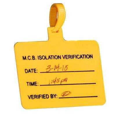 Pre-Printed Stock Jumbo Tags - MCB Isolation Verification