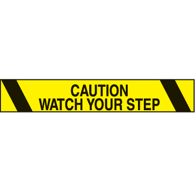 Printed Warning Tape - Caution Watch Your Step