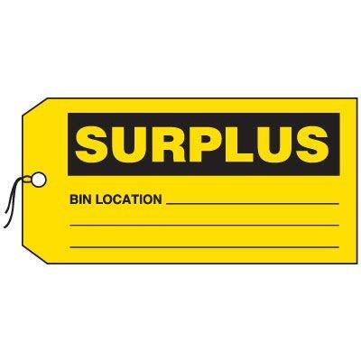 Production Control Tags - Surplus