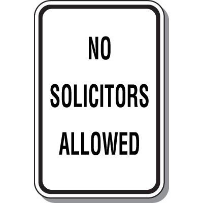 Property Protection Signs - No Solicitors Allowed