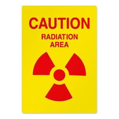Radiation Hazard Safety Signs - Caution Radiation Area
