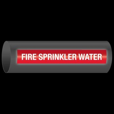 Reflective Opti-Code™ Self-Adhesive Pipe Markers - Fire Sprinkler Water