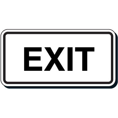Reflective Parking Lot Signs - Exit
