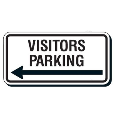 Reflective Parking Lot Signs - Visitors Parking