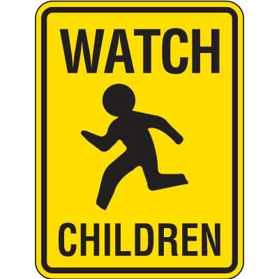 Reflective Pedestrian Crossing Signs - Watch Children