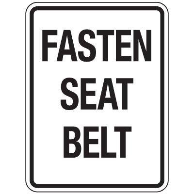 Reflective Traffic Reminder Signs - Fasten Seat Belt