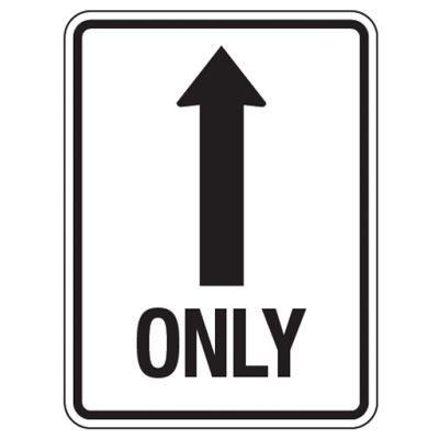 Reflective Traffic Reminder Signs - Only (With Arrow)