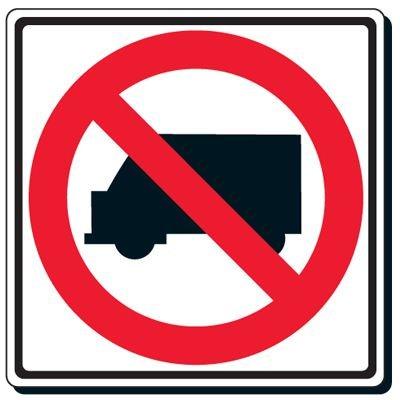 Reflective Traffic Signs - No Trucks (Symbol)