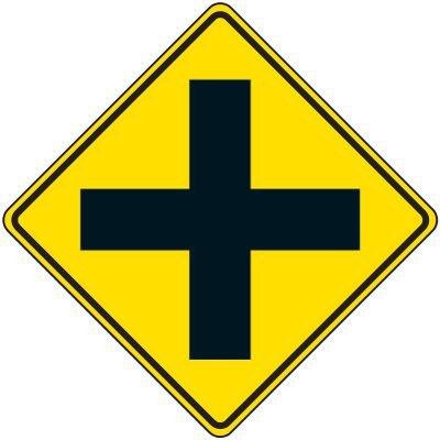 Reflective Warning Signs - 4-Way Traffic Symbol