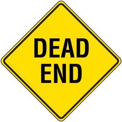 Reflective Warning Signs - Dead End