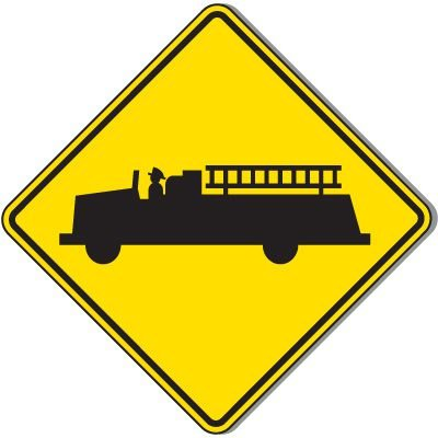 Reflective Warning Signs - Emergency Vehicle (Symbol)