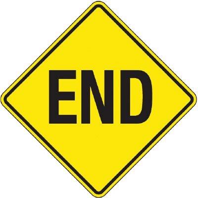 Reflective Warning Signs - End