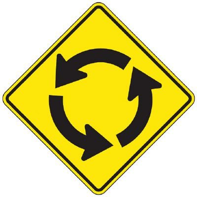 Reflective Warning Signs - Traffic Circle (Symbol)