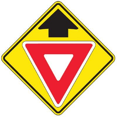 Reflective Warning Signs - Yield (Symbol With Arrow)