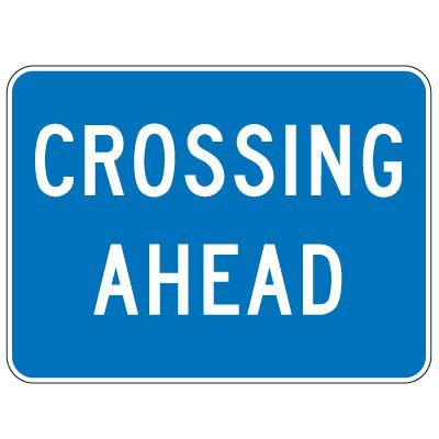 Regulatory School Zone Signs - Crossing Ahead