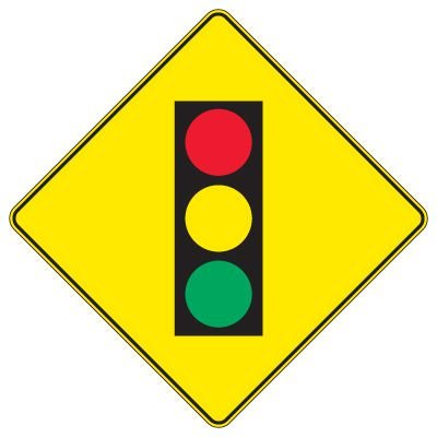 Regulatory Warning Signs – Stop Light Ahead