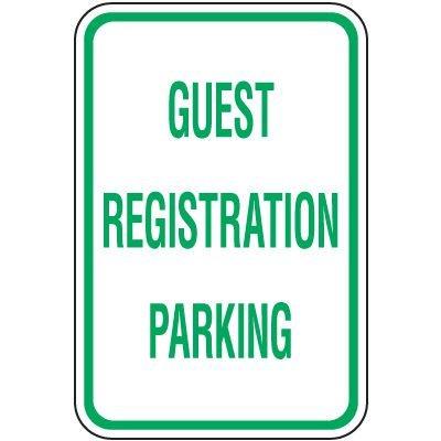 Reserved Parking Signs - Guest Registration Parking