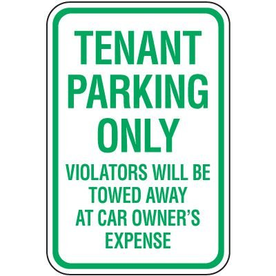 Reserved Parking Signs - Tenant Parking Only