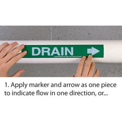 Roll Form Self-Adhesive Pipe Markers - Boiler Feed Water