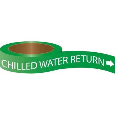Roll Form Self-Adhesive Pipe Markers - Chilled Water Return