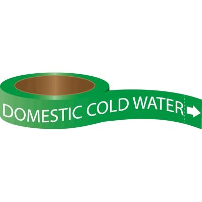 Roll Form Self-Adhesive Pipe Markers - Domestic Cold Water