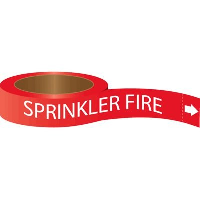 Roll Form Self-Adhesive Pipe Markers - Sprinkler Fire