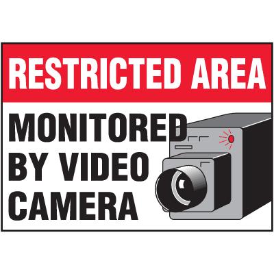 Security & Door Labels- Restricted Area