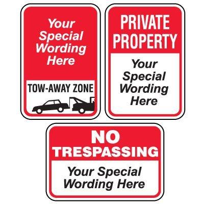 Semi-Custom Worded Signs