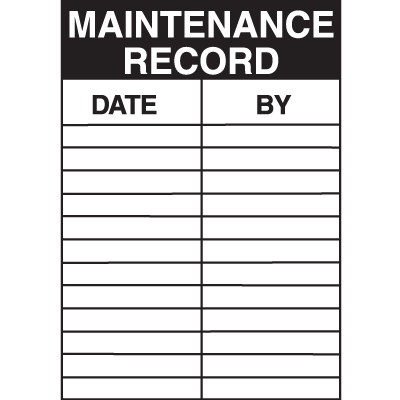 Maintenance Record Service Labels