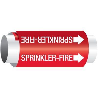 Setmark® Snap-Around Pipe Markers - Sprinkler-Fire