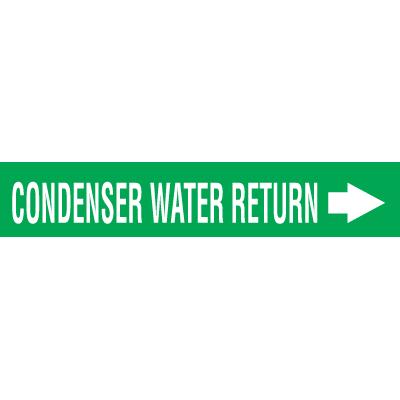 Seton Code™ Economy Self-Adhesive Pipe Markers - Condenser Water Return