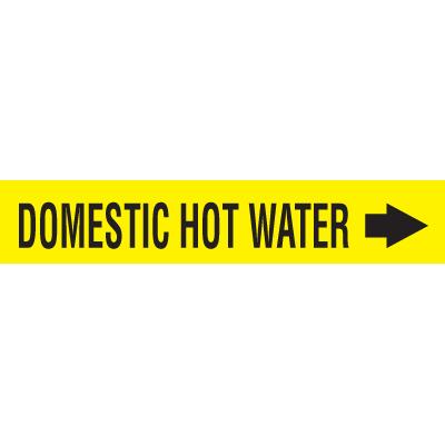 Seton Code™ Economy Self-Adhesive Pipe Markers - Domestic Hot Water