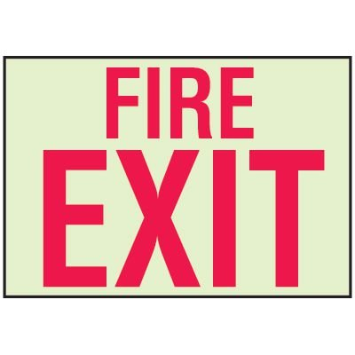 Luminous Path Marker Signs - Fire Exit