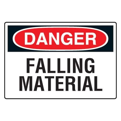 Site Safety Signs - Danger Falling Material