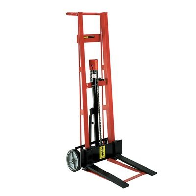 Steel Frame Two-Wheeled Hydraulic Pedalift with Forks