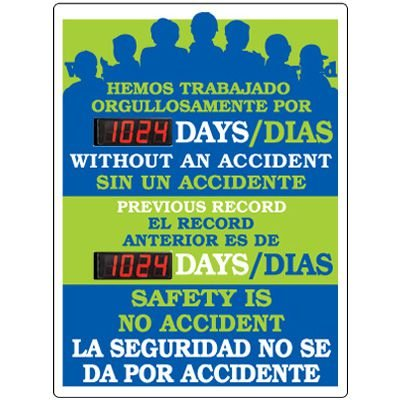 Stock Scoreboards - Safety Is No Accident (Bilingual)