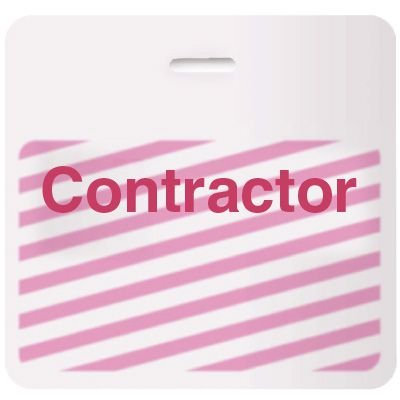 Stock TIMEbadge® - Contractor CARDbadge®