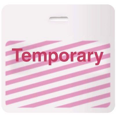 Stock TIMEbadge® - Temporary CARDbadge®