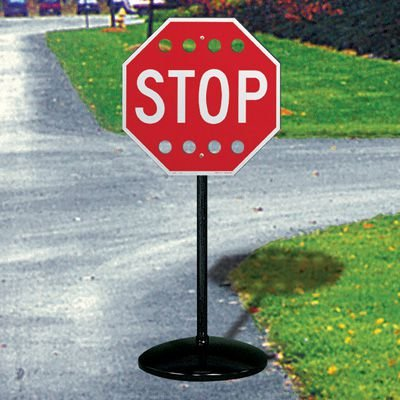 Stop Sign With Wind Holes