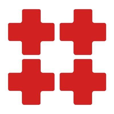 Toughstripe® Die-Cut Shapes - Cross Markers