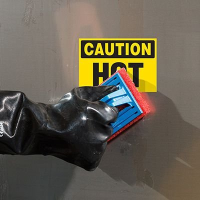 ToughWash® Labels - Caution Hot