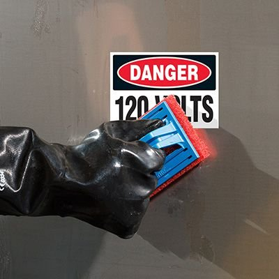 ToughWash® Labels - Danger 120 Volts