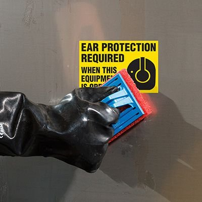 ToughWash® Labels - Ear Protection Required