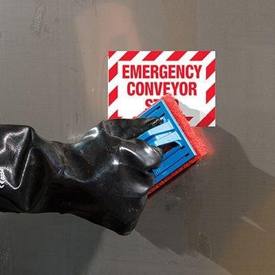 ToughWash® Labels - Emergency Conveyor Stop