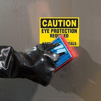 ToughWash® Labels - Eye Protection Handling Chemicals