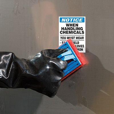 ToughWash® Labels - Wear PPE When Handling Chemicals