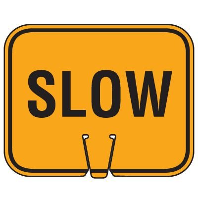 Traffic Cone Signs - Slow