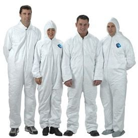 Tyvek Protective Coveralls With Hood